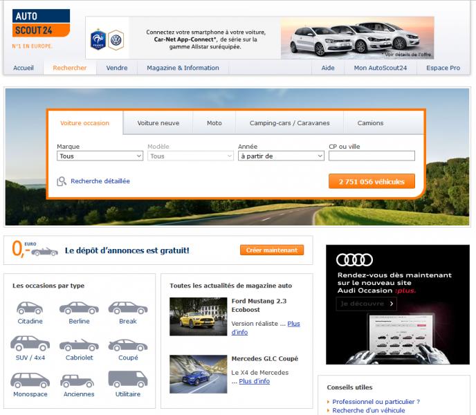 présentation auto scout 24 - marché automobile - iziscar